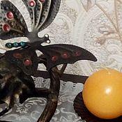 """Для дома и интерьера ручной работы. Ярмарка Мастеров - ручная работа Подсвечник кованный  """"Бабочка  на лозе"""". Handmade."""