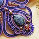 Purple soutache necklace Starry sky. Necklace. LADY-LIZA jewelry shop. My Livemaster. Фото №6
