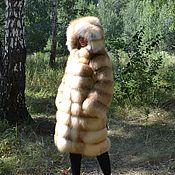 Одежда handmade. Livemaster - original item Coat with hood fur Siberian red Fox. the transverse layout.. Handmade.