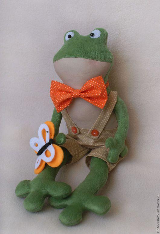 """Куклы и игрушки ручной работы. Ярмарка Мастеров - ручная работа. Купить Набор для изготовления текстильной игрушки """"Лягушка"""". Handmade. Зеленый"""