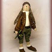 Куклы и игрушки ручной работы. Ярмарка Мастеров - ручная работа Тильда заяц Джонни. Handmade.