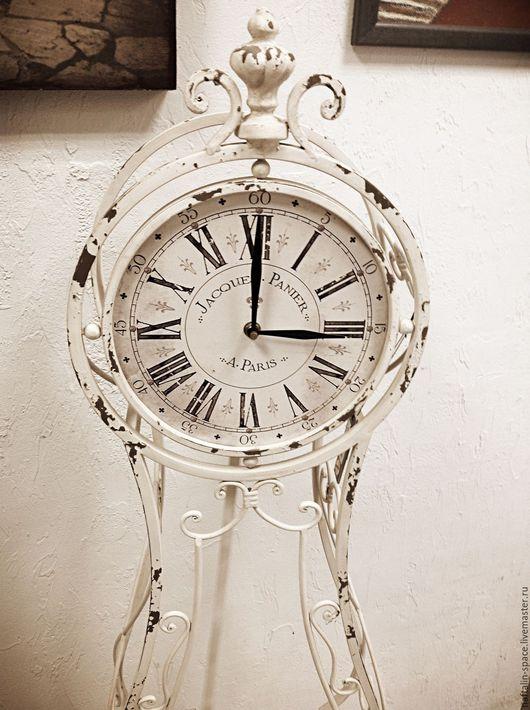Часы для дома ручной работы. Ярмарка Мастеров - ручная работа. Купить Напольные часы. Handmade. Часы для дома, потертый шик
