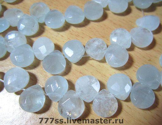 Для украшений ручной работы. Ярмарка Мастеров - ручная работа. Купить Аквамарин  бусины-капли. Handmade. Бусины из камня
