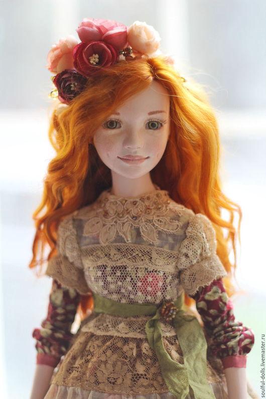Коллекционные куклы ручной работы. Ярмарка Мастеров - ручная работа. Купить Надя. Handmade. Рыжий, авторская кукла, подарок, органди