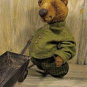 Куклы и игрушки ручной работы. Ярмарка Мастеров - ручная работа Медведь   с тачкой. Handmade.