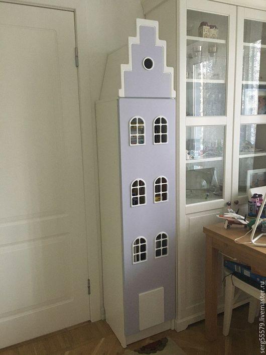 Детская ручной работы. Ярмарка Мастеров - ручная работа. Купить Голландский домик-шкафчик. Handmade. Комбинированный, окошки, детская