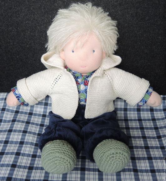 Вальдорфская игрушка ручной работы. Ярмарка Мастеров - ручная работа. Купить Вальдорфская кукла. Мальчик.. Handmade. Вальдорфская кукла, хлопок