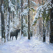 Pictures handmade. Livemaster - original item Painting-Winter forest owner. Handmade.