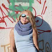 Аксессуары handmade. Livemaster - original item Voluminous Snood blue wool