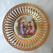 Винтаж handmade. Livemaster - original item Vintage decorative plate, porcelain, Czechoslovakia. Handmade.