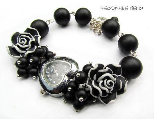 """Часы ручной работы. Ярмарка Мастеров - ручная работа. Купить Часы """"Ночное рандеву"""". Handmade. Часы, черная роза"""