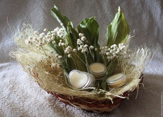 Натуральные твердые духи с ароматом ландыша. Подарки для женщин. Косметика ручной работы. Edenicsoap.