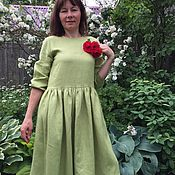 Одежда handmade. Livemaster - original item Linen dress in any shade of linen