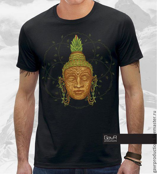 Футболка мужская Buddha head