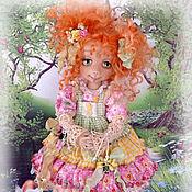 Куклы и игрушки ручной работы. Ярмарка Мастеров - ручная работа Веснушка - озорница. Коллекционная авторская текстильная кукла.. Handmade.