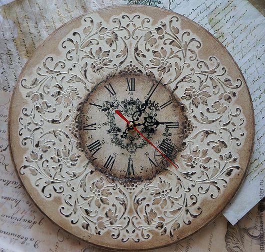 """Часы для дома ручной работы. Ярмарка Мастеров - ручная работа. Купить Часы """" Узоры времени II """". Handmade."""