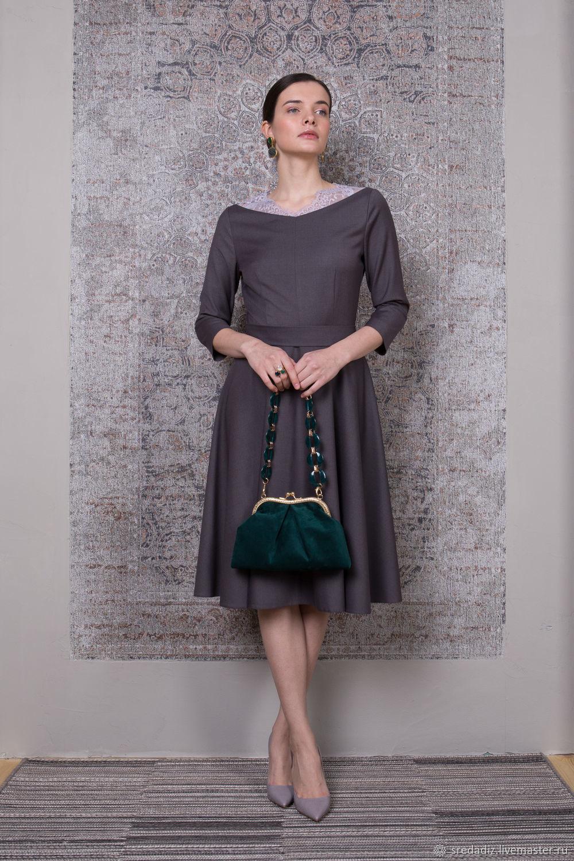 5869ab47a38 Платья ручной работы. Ярмарка Мастеров - ручная работа. Купить Темно-синее  платье с ...