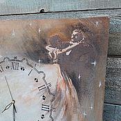 Для дома и интерьера ручной работы. Ярмарка Мастеров - ручная работа часы настенные  фреска Танец среди звёзд в часах. Handmade.