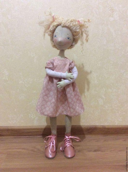 Коллекционные куклы ручной работы. Ярмарка Мастеров - ручная работа. Купить Текстильная кукла. Handmade. Розовый, кукла ручной работы