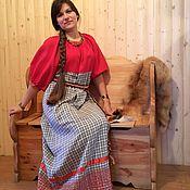 Русский стиль ручной работы. Ярмарка Мастеров - ручная работа Рубаха женская покосная. Handmade.
