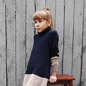 Работы для детей, ручной работы. Ярмарка Мастеров - ручная работа Платье вязаное детское  Латте кашемировое. Handmade.