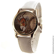 Украшения ручной работы. Ярмарка Мастеров - ручная работа Дизайнерские наручные часы Белый кролик. Handmade.