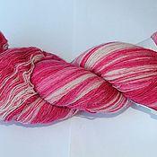 Материалы для творчества ручной работы. Ярмарка Мастеров - ручная работа Пряжа Кауни 8/1 Pink-white. Handmade.