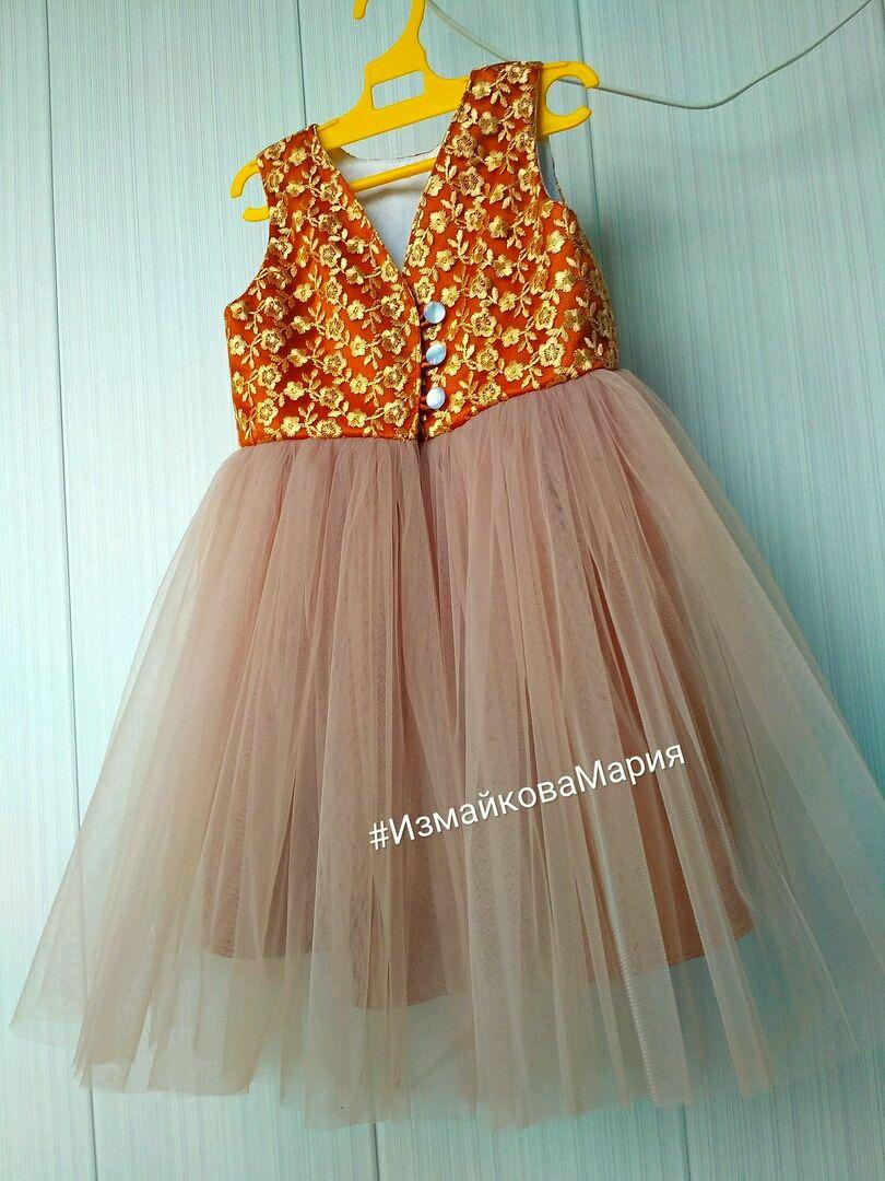 Платье детское пышное фатиновое