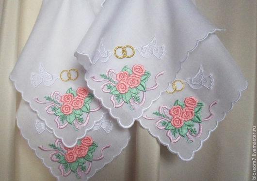 Свадебные аксессуары ручной работы. Ярмарка Мастеров - ручная работа. Купить Платок для венчания (набор 4 штуки). Handmade. Белый