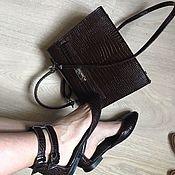 Обувь ручной работы. Ярмарка Мастеров - ручная работа Балетки Casual туфли  коричневый крокодил. Handmade.