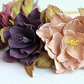 Украшения ручной работы. Ярмарка Мастеров - ручная работа Ободок с цветами из фоамирана. Handmade.