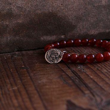 Decorations handmade. Livemaster - original item Mayakovsky bracelet made of beads and sterling silver . Uadzhet. Handmade.