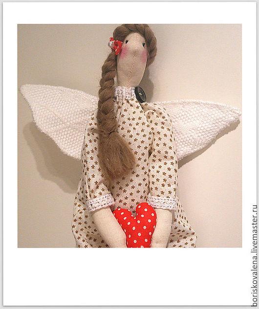 Куклы Тильды ручной работы. Ярмарка Мастеров - ручная работа. Купить Тильда Домашний Ангел Виолетта. Handmade. Бежевый, бязь