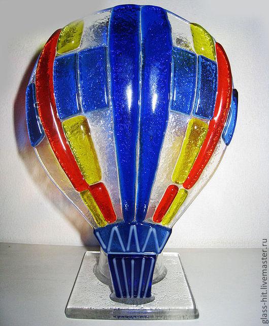 """Подсвечник """" Воздушный шар"""". Стекло. Фьюзинг."""