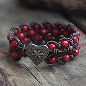 Украшения handmade. Livemaster - original item Coral cuff bracelet. Handmade.