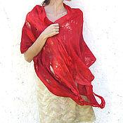 Аксессуары ручной работы. Ярмарка Мастеров - ручная работа Красная шаль-паутинка. Handmade.
