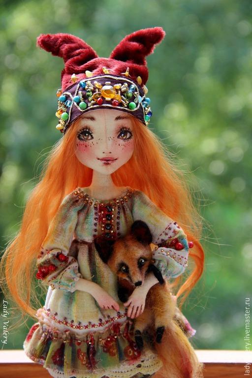 Коллекционные куклы ручной работы. Ярмарка Мастеров - ручная работа. Купить Ярина. Handmade. Рыжий, текстильная кукла, винтажный плюш