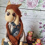 handmade. Livemaster - original item Tilda Animals: Lady Denim. Handmade.