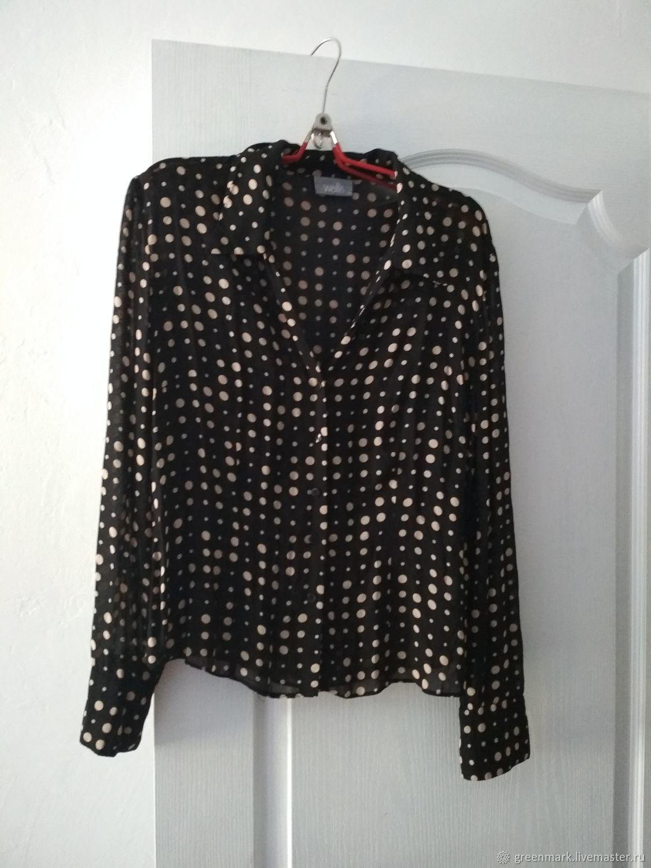 Винтаж: Вискозная блузка. Винтаж. 16, Винтажная одежда, Кривой Рог, Фото №1