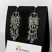 Украшения handmade. Livemaster - original item Earrings DROPS 925 sterling silver BLUE aquamarine Blue Topaz. Handmade.