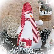 Декор в стиле Тильда ручной работы. Ярмарка Мастеров - ручная работа Снеговик. Handmade.