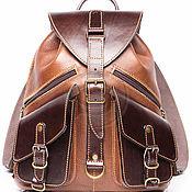 """Сумки и аксессуары handmade. Livemaster - original item Кожаный рюкзак """"Пилот"""" коричневый. Handmade."""