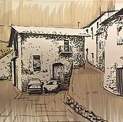 Картины и панно ручной работы. Ярмарка Мастеров - ручная работа Скетч города. Handmade.