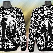 Одежда ручной работы. Ярмарка Мастеров - ручная работа Тату-свитер -  Отдыхающие панды. Handmade.
