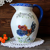 Посуда handmade. Livemaster - original item Large jug ceramic