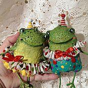 Куклы и игрушки ручной работы. Ярмарка Мастеров - ручная работа Жабунята цирковые. Handmade.