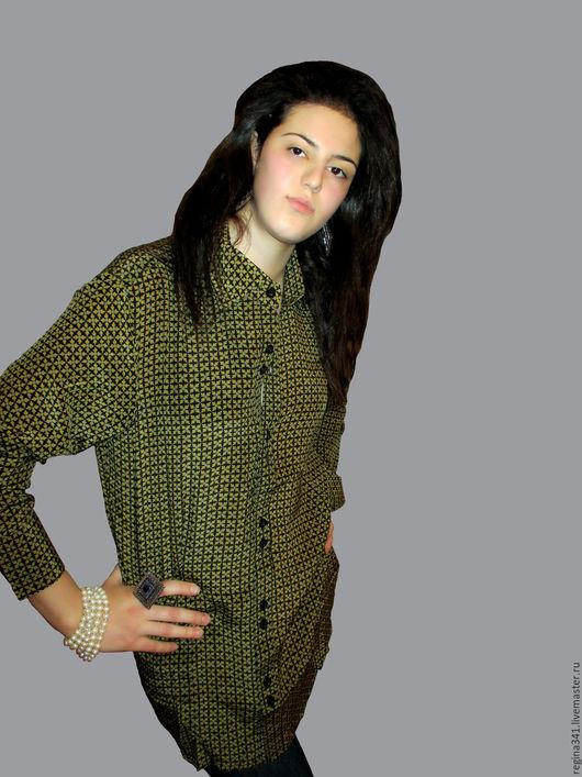 """Блузки ручной работы. Ярмарка Мастеров - ручная работа. Купить Шёлковая женская рубашка  """"Giulia"""". Handmade. Шёлковая рубашка купить"""