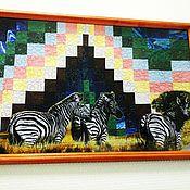 """Картины и панно ручной работы. Ярмарка Мастеров - ручная работа Картина """"Зебры"""". Handmade."""