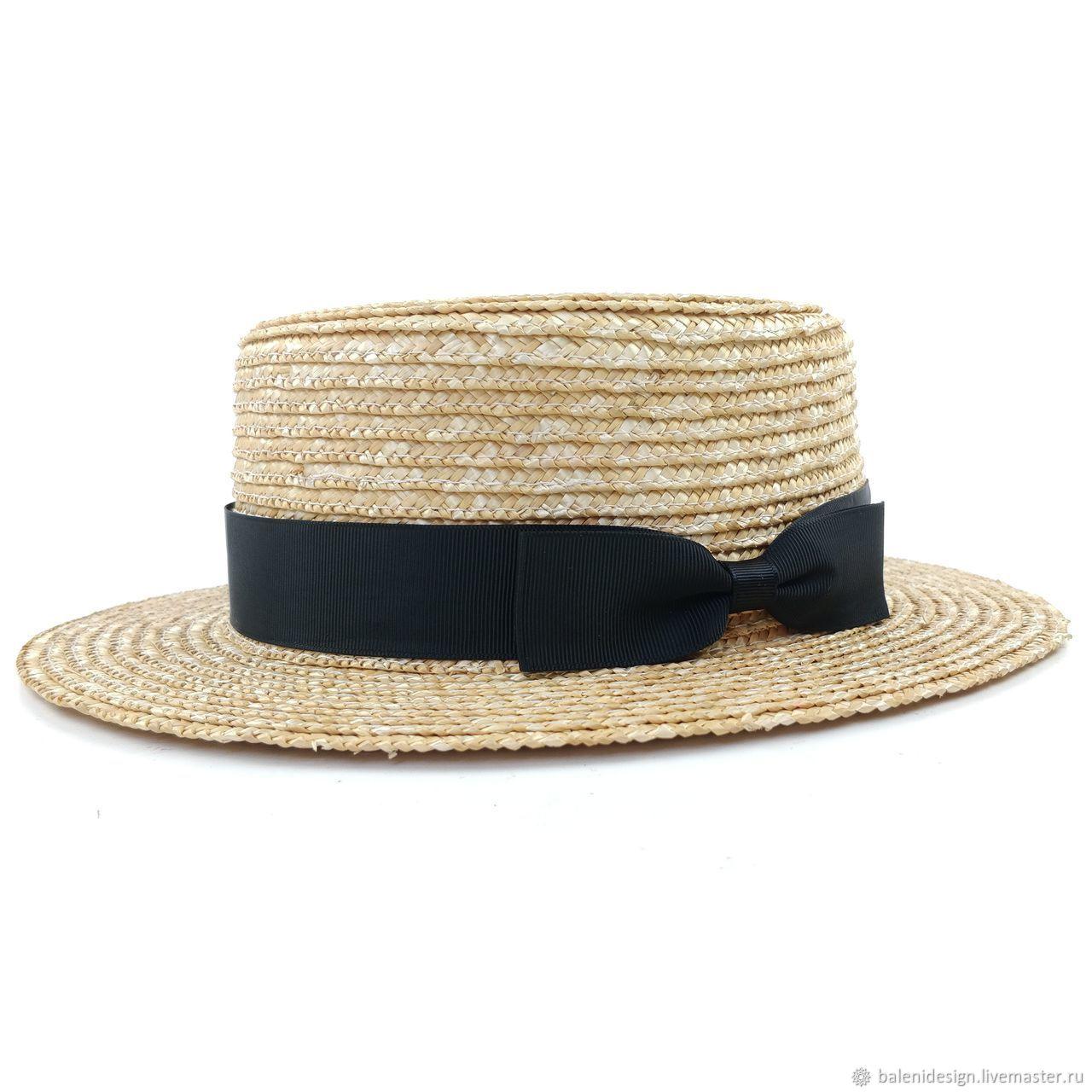 Шляпы ручной работы. Ярмарка Мастеров - ручная работа. Купить Соломенная Шляпа канотье. Handmade. Шляпы, соломенные шляпы