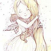 Картины и панно handmade. Livemaster - original item girl spring. Handmade.